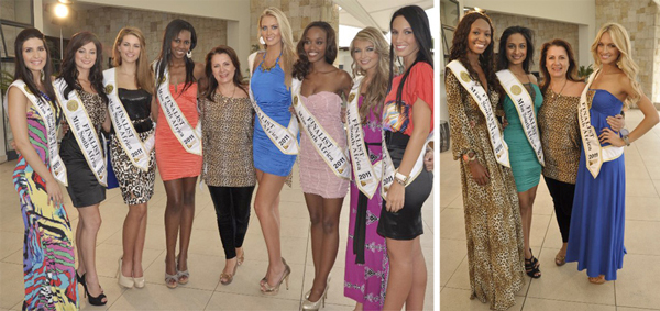 The Miss SA top 12 Finalists